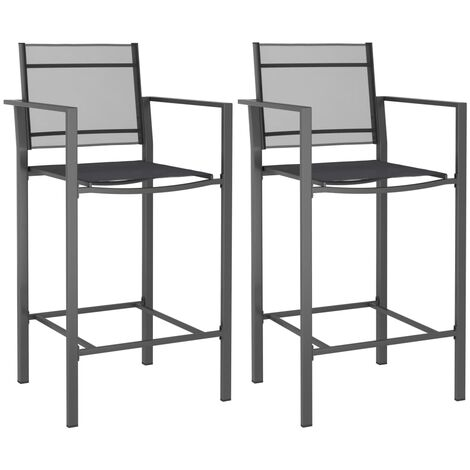 Bar Chairs 2 pcs Anthracite Texilene