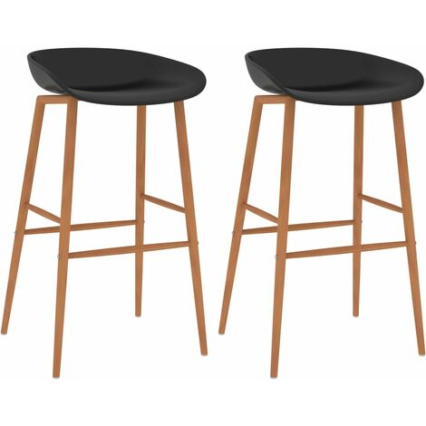 Bar Chairs 2 pcs Black