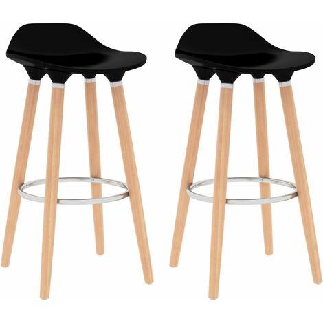 Bar Chairs 2 pcs Black