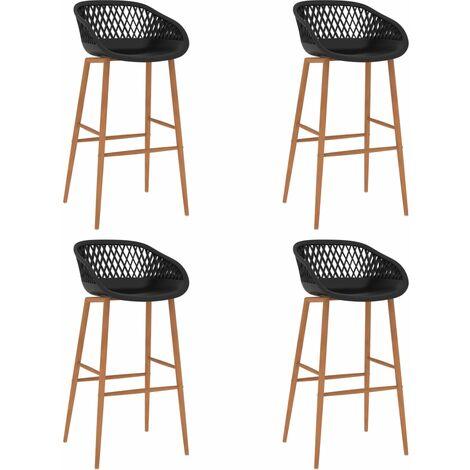 Bar Chairs 4 pcs Black