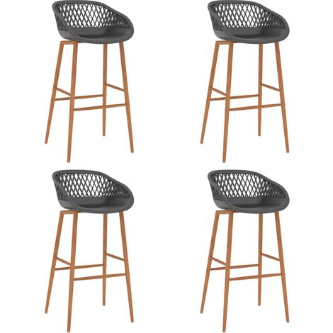 Bar Chairs 4 pcs Grey