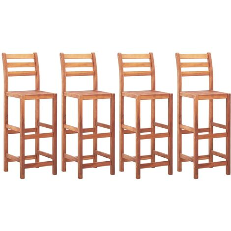 Bar Chairs 4 pcs Solid Acacia Wood