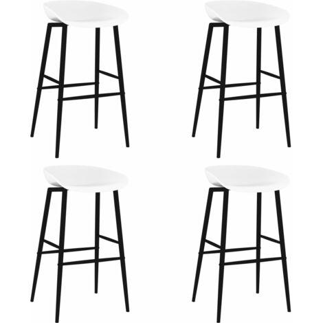 Bar Chairs 4 pcs White