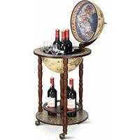 Globe Terrestre Bois pour 3x44 Bar Cabinet Bouteille et en Vin Verre Boissons 44 3x88cm d'Eucalyptus Mappemonde BoeWQrxCd