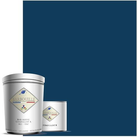 BAR-RESINE : Peinture/résine époxy bi-composants, BRILLANTE en phase aqueuse pour carrelages, faiences, stratifiés, PVC, etc…