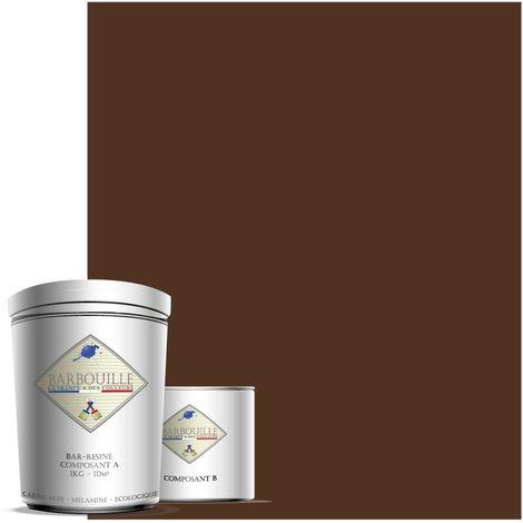 BAR-RESINE : Peinture/résine époxy bi-composants, MATE en phase aqueuse pour carrelages, faiences, stratifiés, PVC, etc…