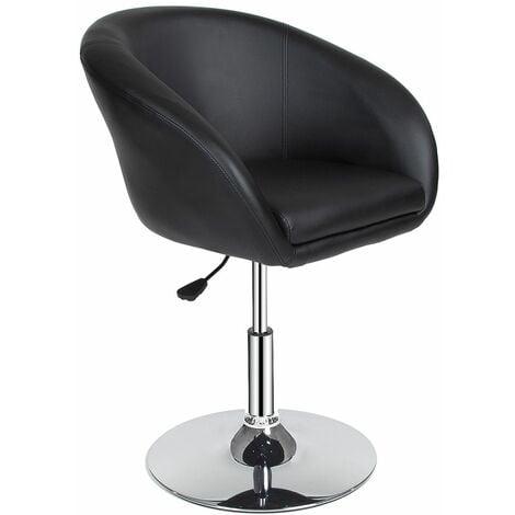 Bar stool lounge Bernhard - stool chair, adjustable stool, swivel stool - black