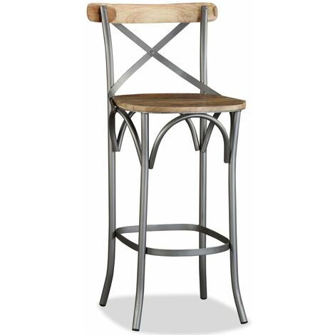 Bar Stool Solid Mango Wood