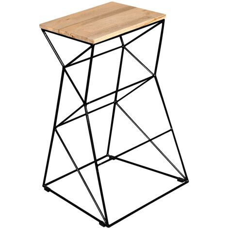 Bar Stool Solid Mango Wood - Brown