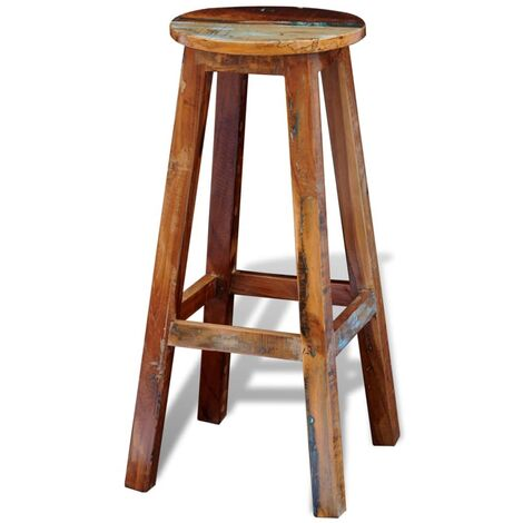 Bar Stool Solid Reclaimed Wood