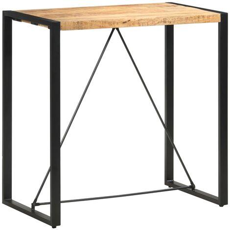 Bar Table 110x60x110 cm Solid Mango Wood