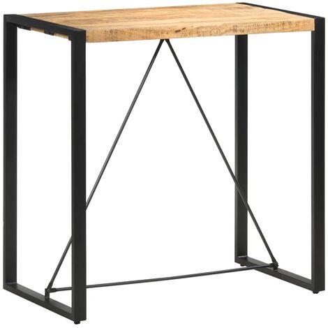 Bar Table 110x60x110 cm Solid Mango Wood - Brown