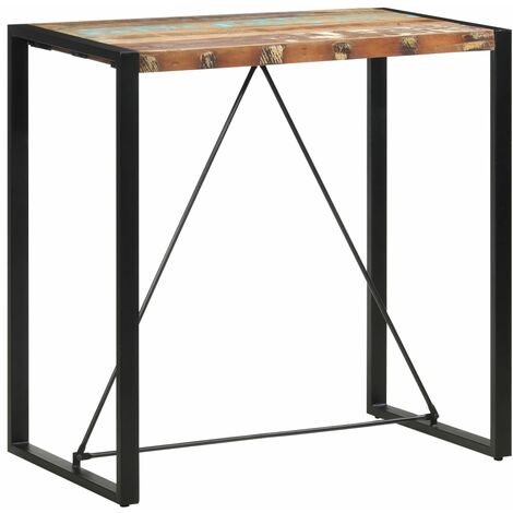 Bar Table 110x60x110 cm Solid Reclaimed Wood - Brown