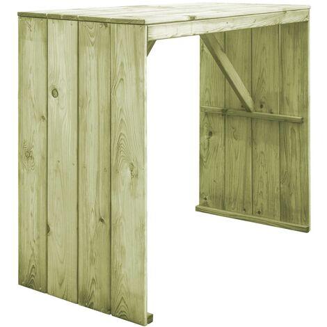 Bar Table 130x60x110 cm Impregnated Pinewood - Brown