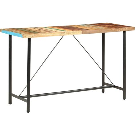 Bar Table 180x70x107 cm Solid Reclaimed Wood
