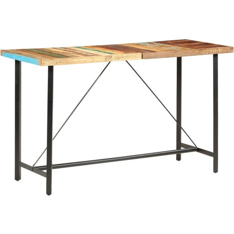 Bar Table 180x70x107 cm Solid Reclaimed Wood - Brown