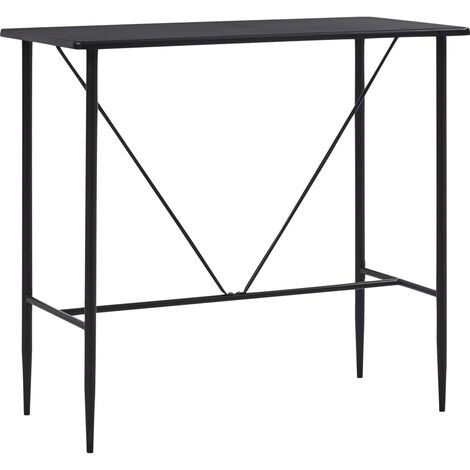 Bar Table Black 120x60x110 cm MDF