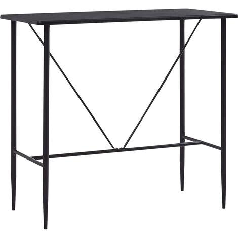 Bar Table Black 120x60x110 cm MDF - Black