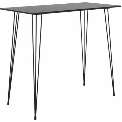 Bar Table Black 120x60x96 cm