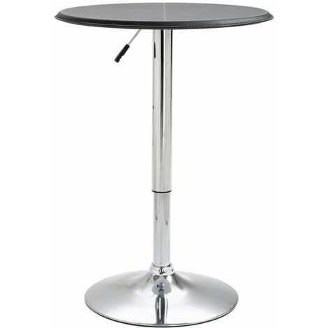 Bar Table Black Ø60 cm MDF