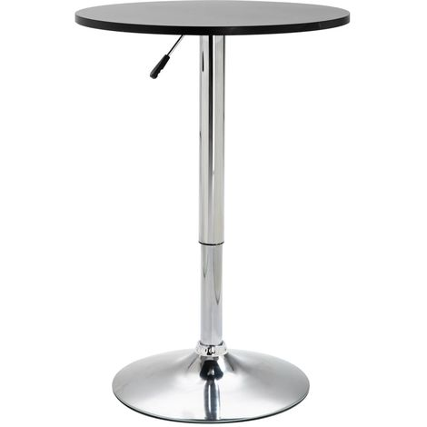 Bar Table Black ?60 cm MDF