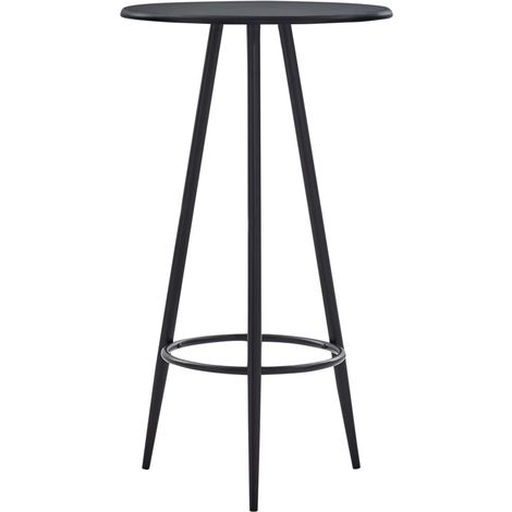 Bar Table Black 60x107.5 cm MDF