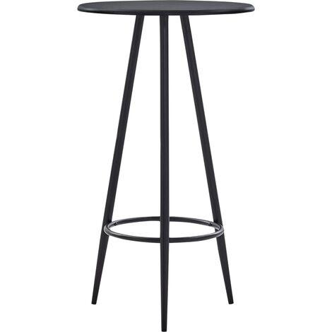 Bar Table Black 60x107.5 cm MDF - Black
