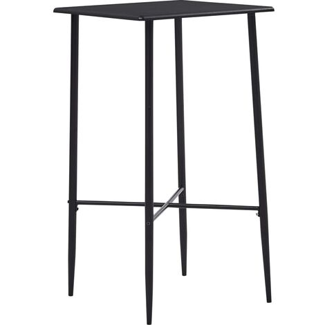 Bar Table Black 60x60x111 cm MDF