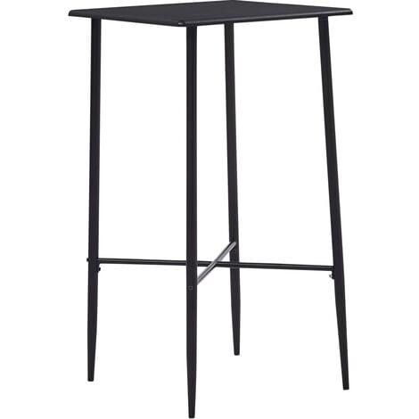 Bar Table Black 60x60x111 cm MDF - Black