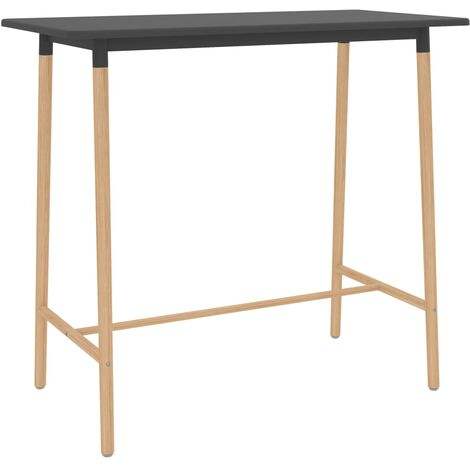 """main image of """"Bar Table Grey 120x60x105 cm MDF & Solid Beechwood17700-Serial number"""""""