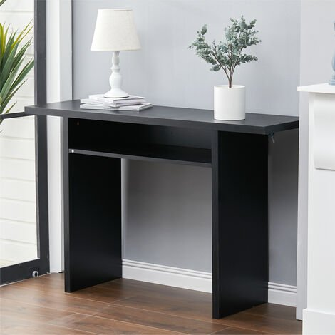 Bar Table Kitchen Breakfast Dining Table Coffee Table Side Console Storage Shelf, Grey