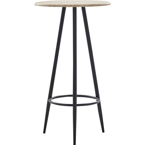 Bar Table Oak 60x107.5 cm MDF