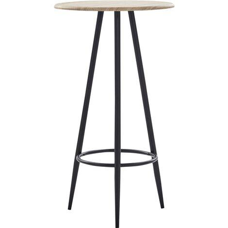 Bar Table Oak 60x107.5 cm MDF - Brown