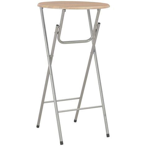 Bar Table Oak 60x112 cm MDF - Brown