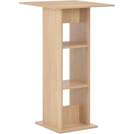 Bar Table Oak 60x60x110 cm
