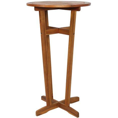 Bar Table Solid Acacia Wood 60x105 cm