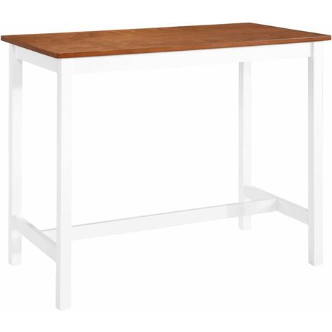 Bar Table Solid Wood 108x60x91 cm - Brown