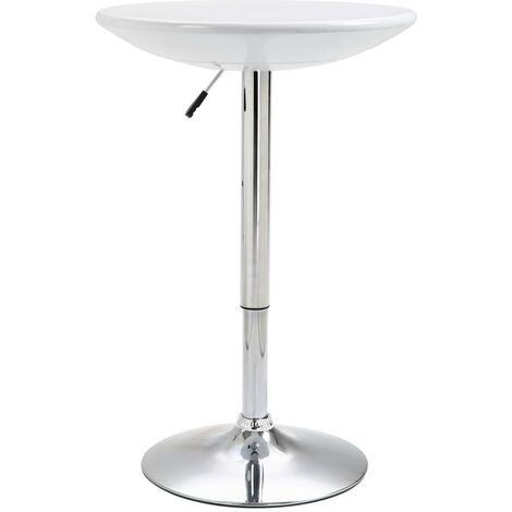 Bar Table White Ø60 cm ABS