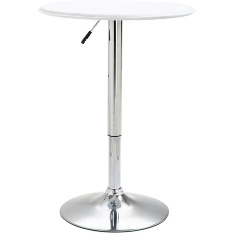 Bar Table White Ø60 cm MDF
