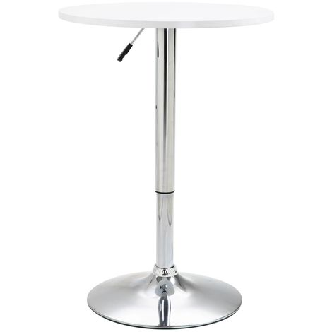 Bar Table White ?60 cm MDF