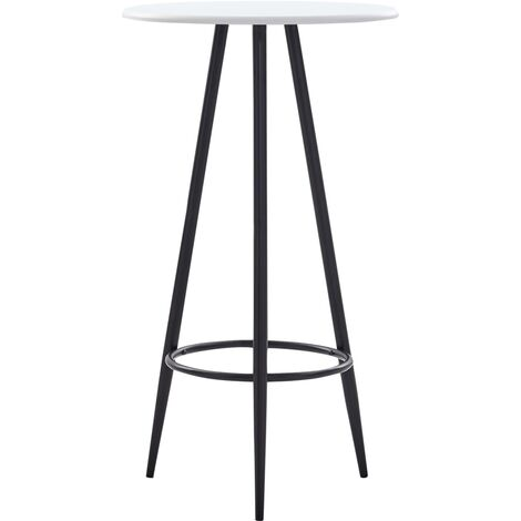 Bar Table White 60x107.5 cm MDF - White