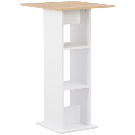 Bar Table White 60x60x110 cm