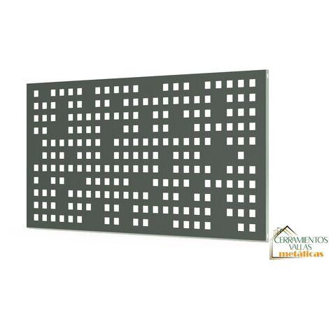Barandilla Exterior Modular - Modulo Chapa 195X94 Cm Mod. Barcelona Óxido