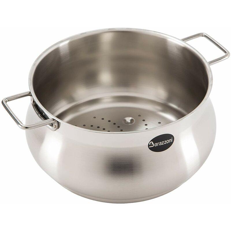 Tummy Passoire Vapo Ligne Made in Italy Acier INOX 18/10 Diamètre 22 cm - Barazzoni