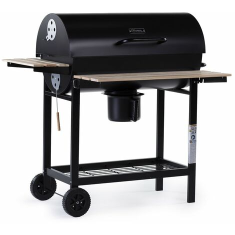 Barbacoa a carbón King - 95 x 63 x 105 cm - Negro