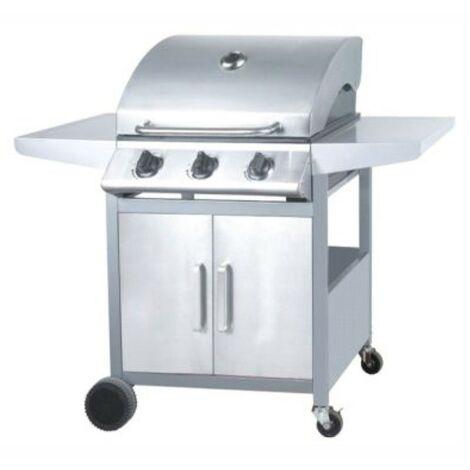 Barbacoa a gas 3 Quemadores | Fabricado en acero inoxidable. Termometro integrado. Panel control inox | Asador de carne