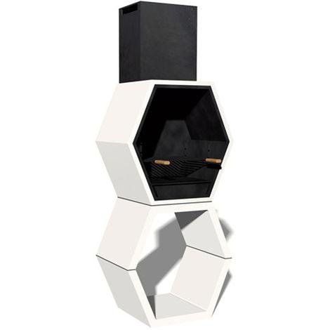 Barbacoa Liber 01 máximo diseño y calidad. Dehormigón bruto hidrófugo blanco y negro