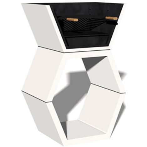 Barbacoa Liber 02 máximo diseño y calidad. Dehormigón bruto hidrófugo blanco y negro
