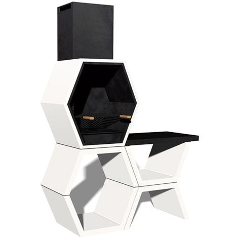 """main image of """"Barbacoa Liber 03 máximo diseño y calidad. Dehormigón bruto hidrófugo blanco y negro"""""""