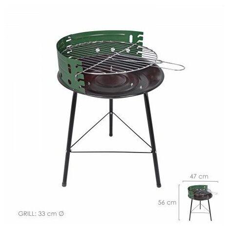 "Barbacoa saturnia ""cocinero"" redonda 47x36x56 (alt.) cm."